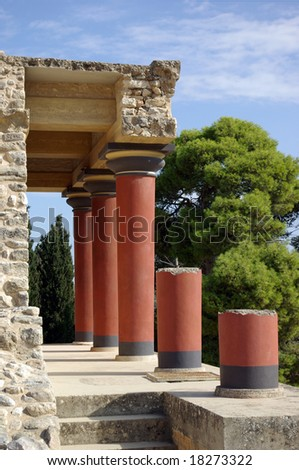 Greece. Knoss palace on island Crete - stock photo