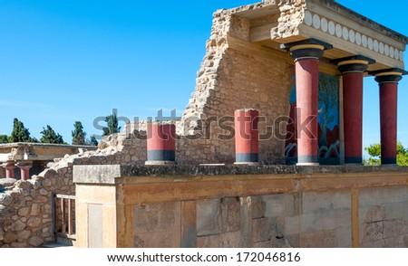 Greece Knossos Palace - stock photo