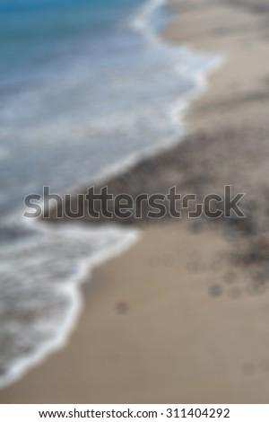 Greece. Kos island. Coastline of Aegean sea. In blur style   - stock photo