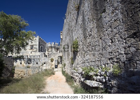 Greece, Palace of the Grand Master, Island Rhodes - stock photo