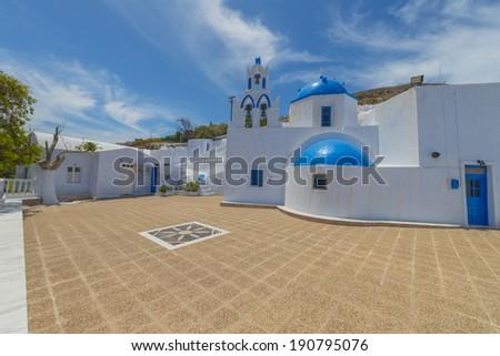 Greece Santorini Church in Oia - stock photo