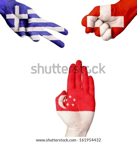 Greece Switzerland Singapore rock-paper-scissors