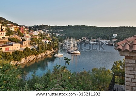 Greece, the island of Ithaki -morning view of the Kioni