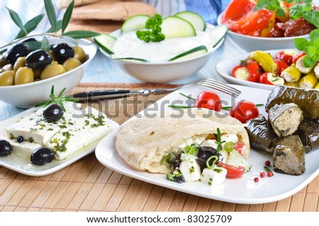 Greek appetizers - stock photo