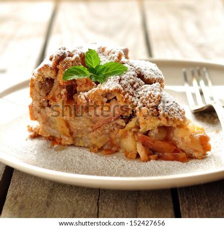 Greek Apple Pie Milopita - stock photo