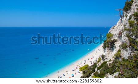 Greek beach - stock photo