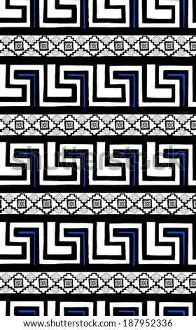 Greek border,seamless with ethnic pattern - stock photo