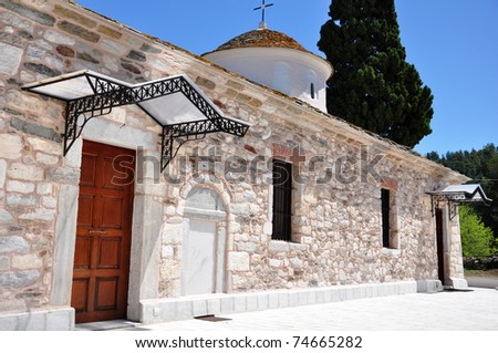 Greek church, island Thassos, Greece