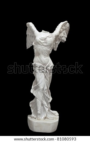Greek classical statue of 'Nike' from Samothrace or 'Winged Victory' - stock photo