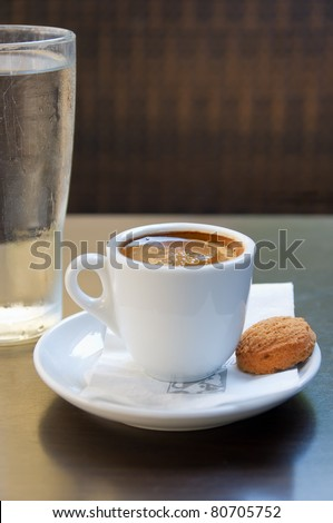 Greek coffee - stock photo