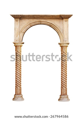 greek column isolated on white background  - stock photo