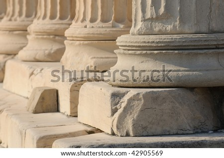greek columns - stock photo