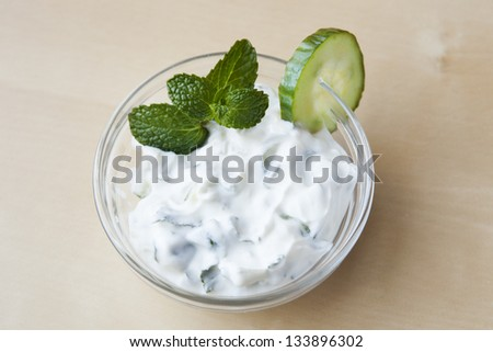 Greek Cucumber Yogurt Sauce - stock photo