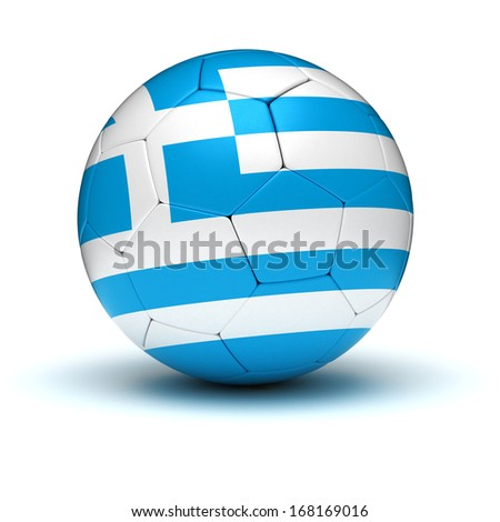 Greek Football (isolated with clipping path)
