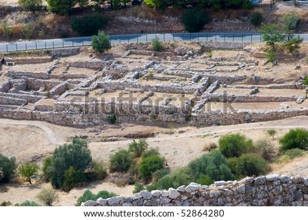 Greek ruins - stock photo