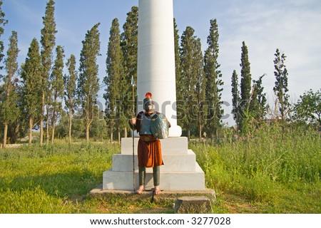 Greek Spartan Warrior - stock photo