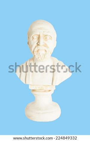 greek statue of hippocrates - stock photo