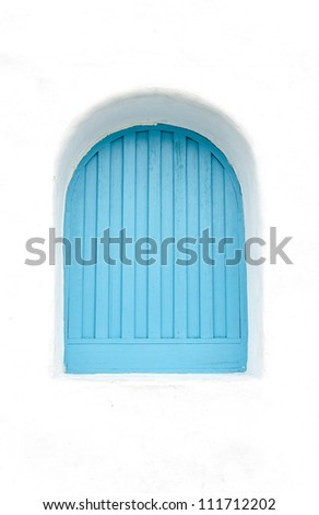 Greek Style windows - stock photo