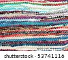 "Greek traditional colorful carpet background ""kurelou"" - stock photo"