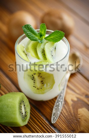 Greek yogurt with kiwi