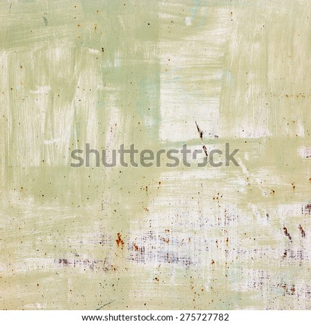 Green abstract background, old metalic wall with paint.  - stock photo