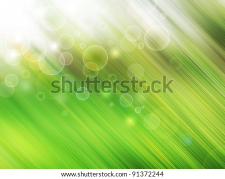Green abstract background. Sunlight  from the top. - stock photo