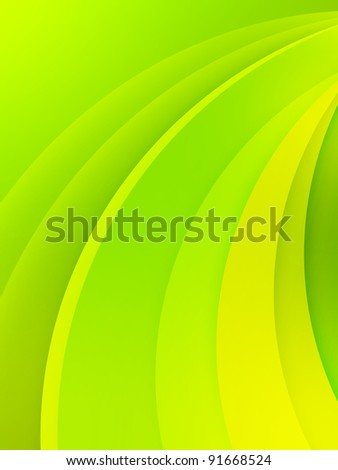 Green abstract background with bended lines. - stock photo