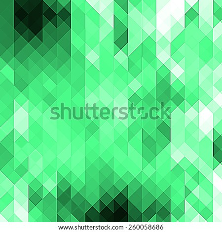 green Abstract background with triangle pattern - stock photo