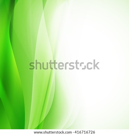 green abstract background with wavy lines. raster - stock photo