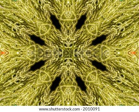 Green Abstract Bead Design - stock photo