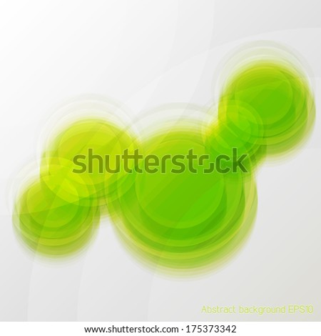 Green abstract blur glass background
