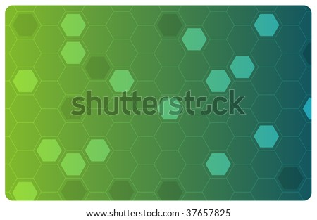 Green abstract hi-tech illustration for science or business background - stock photo