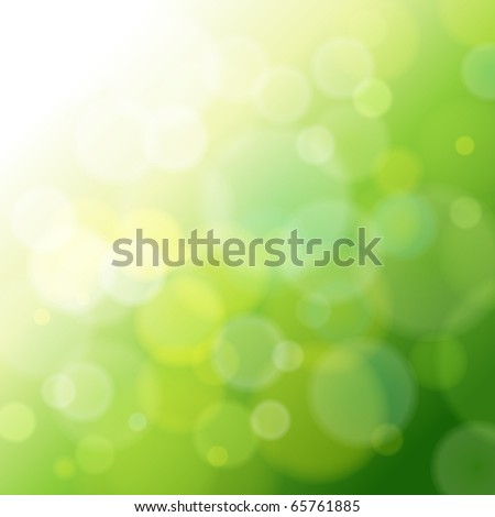 green abstract light background. - stock photo