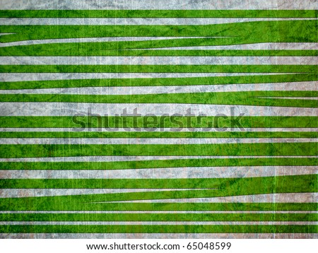 green abstract lines - stock photo