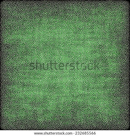 green Abstract painted dots texture, artistic background - stock photo
