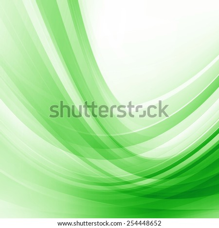 Green Abstract Smooth Curves Lines Background Design - stock photo