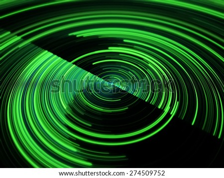 green abstract spiral circle background - stock photo