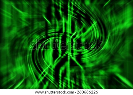 green abstract technology background with curve lines - stock photo