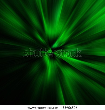 Green Abstract Zoom Motion background - stock photo