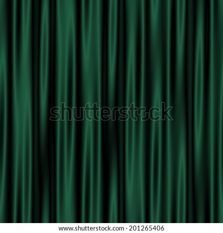 green and black background folds of satin pattern  - stock photo