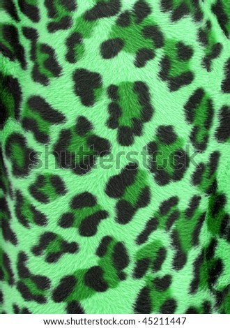 Green  and black camouflage faux fur leopard print backgound