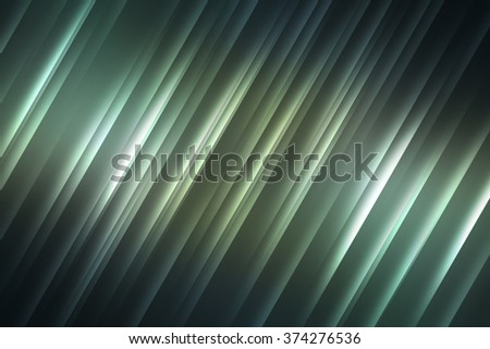 Green and black tones with light rays used to create abstract background  - stock photo