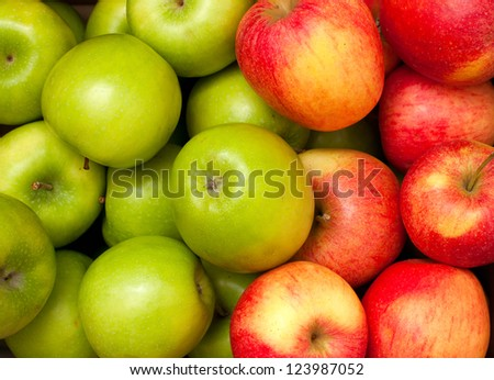 green and red apples. green and red apples