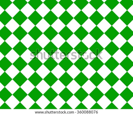 Green and white checkered hypnotic pattern - stock photo