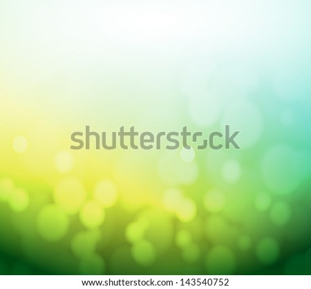 green and yellow bokeh abstract light background. illustration design - stock photo