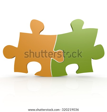 Green and yellow puzzle image with hi-res rendered artwork that could be used for any graphic design.