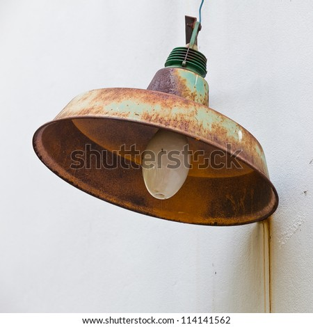 green antique lamp - stock photo