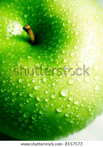 green apple 2 - stock photo