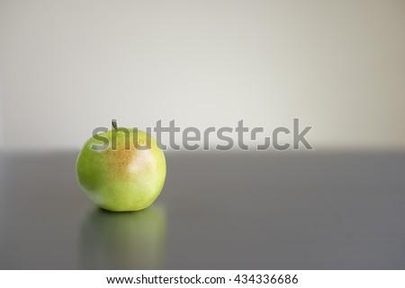 "Green apple ""Granny Smith"". Copy space. - stock photo"