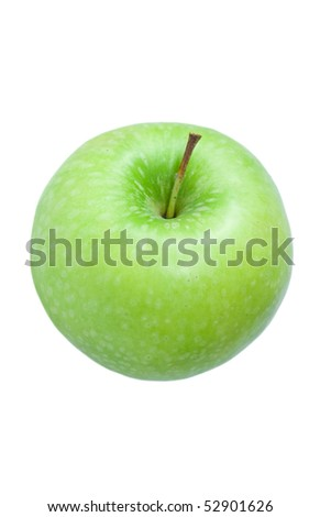 green apple  Granny Smith. Top view.